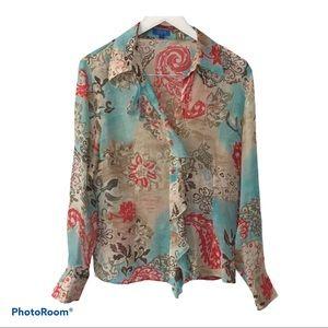 🌷 ESCADA Sport Silk Blouse, Size 42